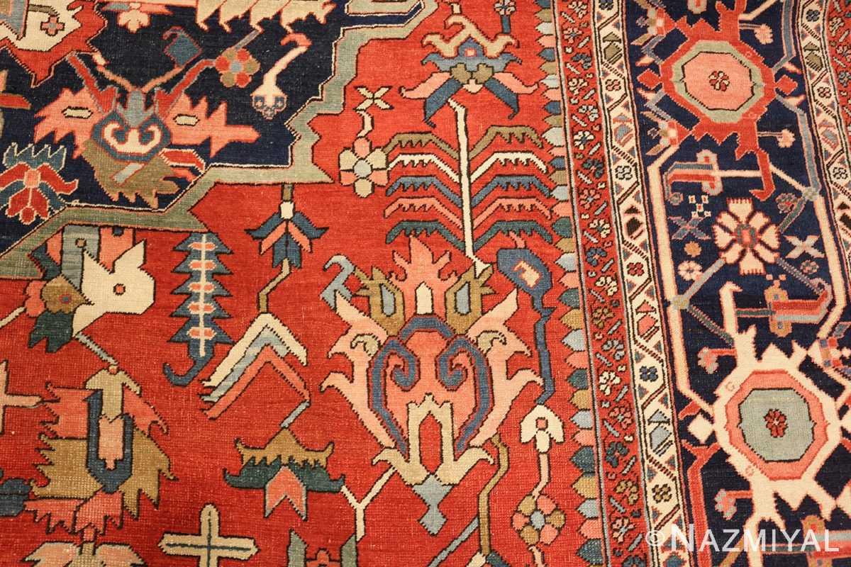 large oriental antique persian heriz serapi rug 49397 pattern Nazmiyal