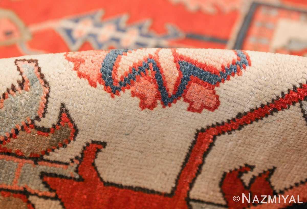 large oriental antique persian heriz serapi rug 49397 pile Nazmiyal