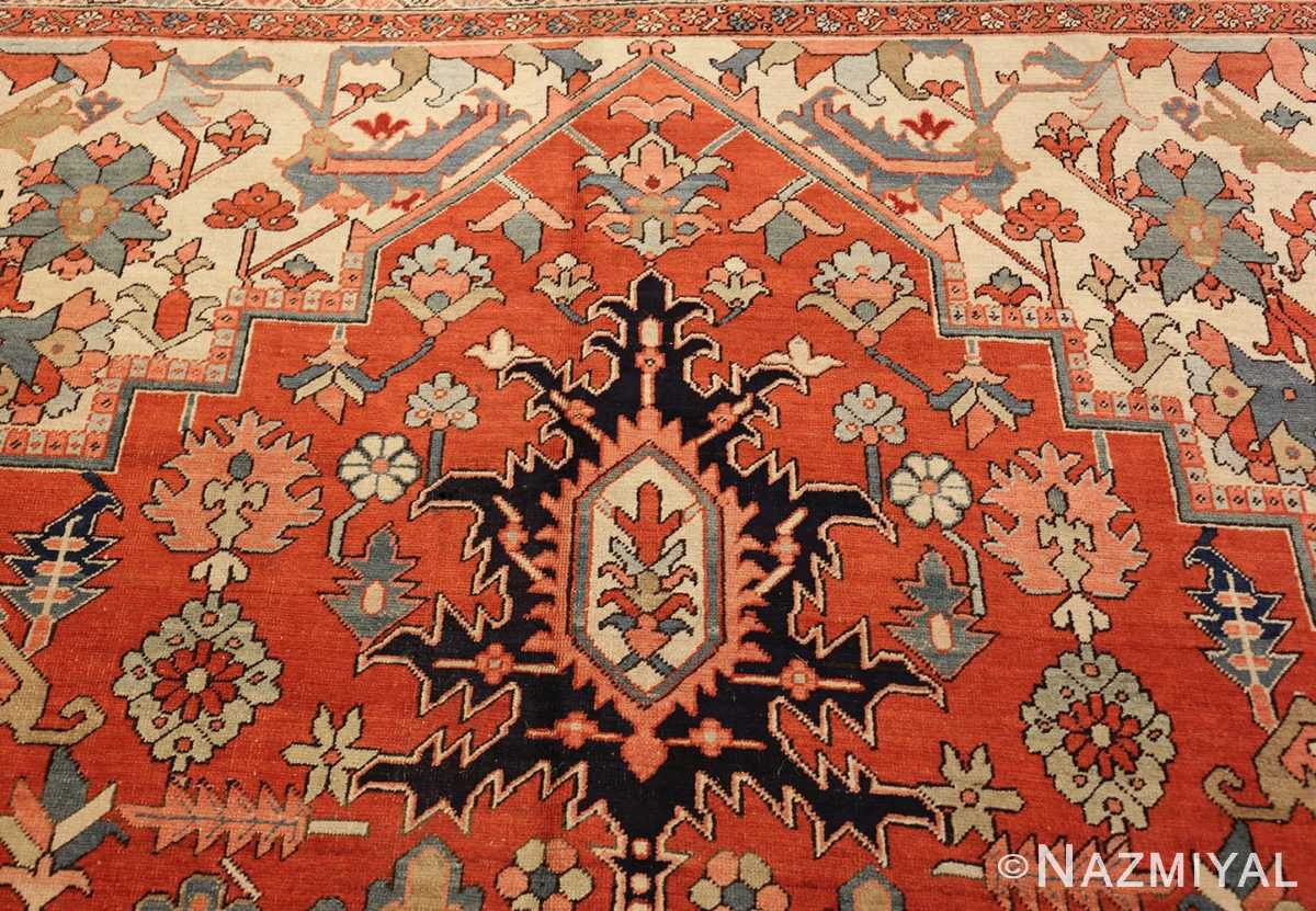 large oriental antique persian heriz serapi rug 49397 tiara Nazmiyal