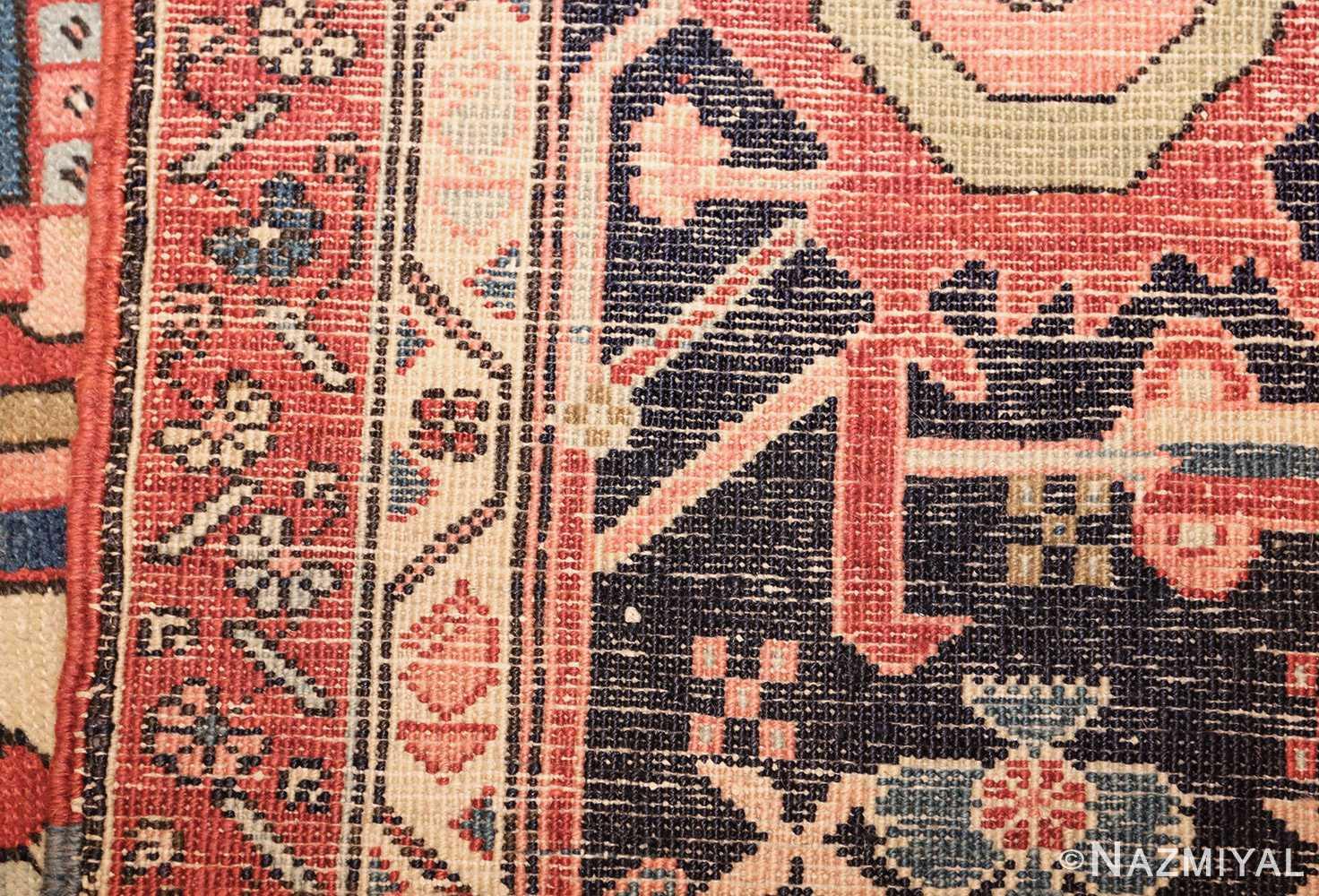 large oriental antique persian heriz serapi rug 49397 weave Nazmiyal