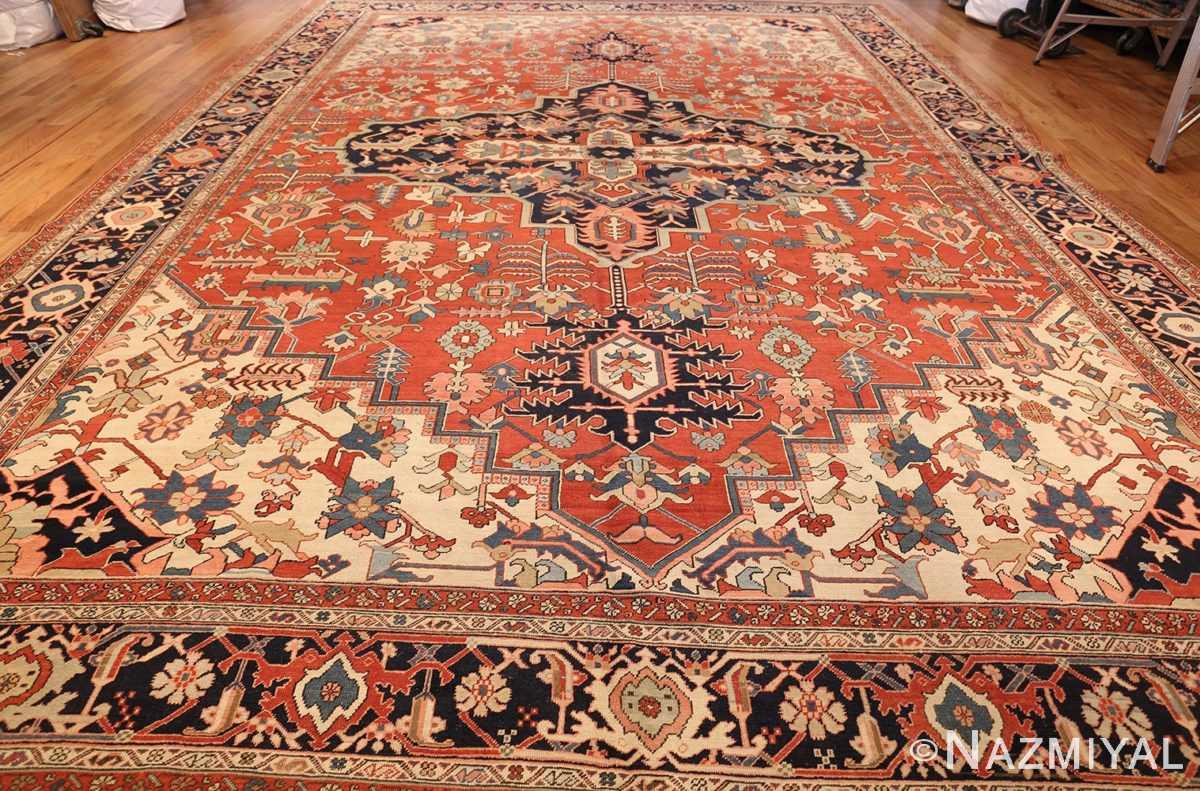 large oriental antique persian heriz serapi rug 49397 whole Nazmiyal