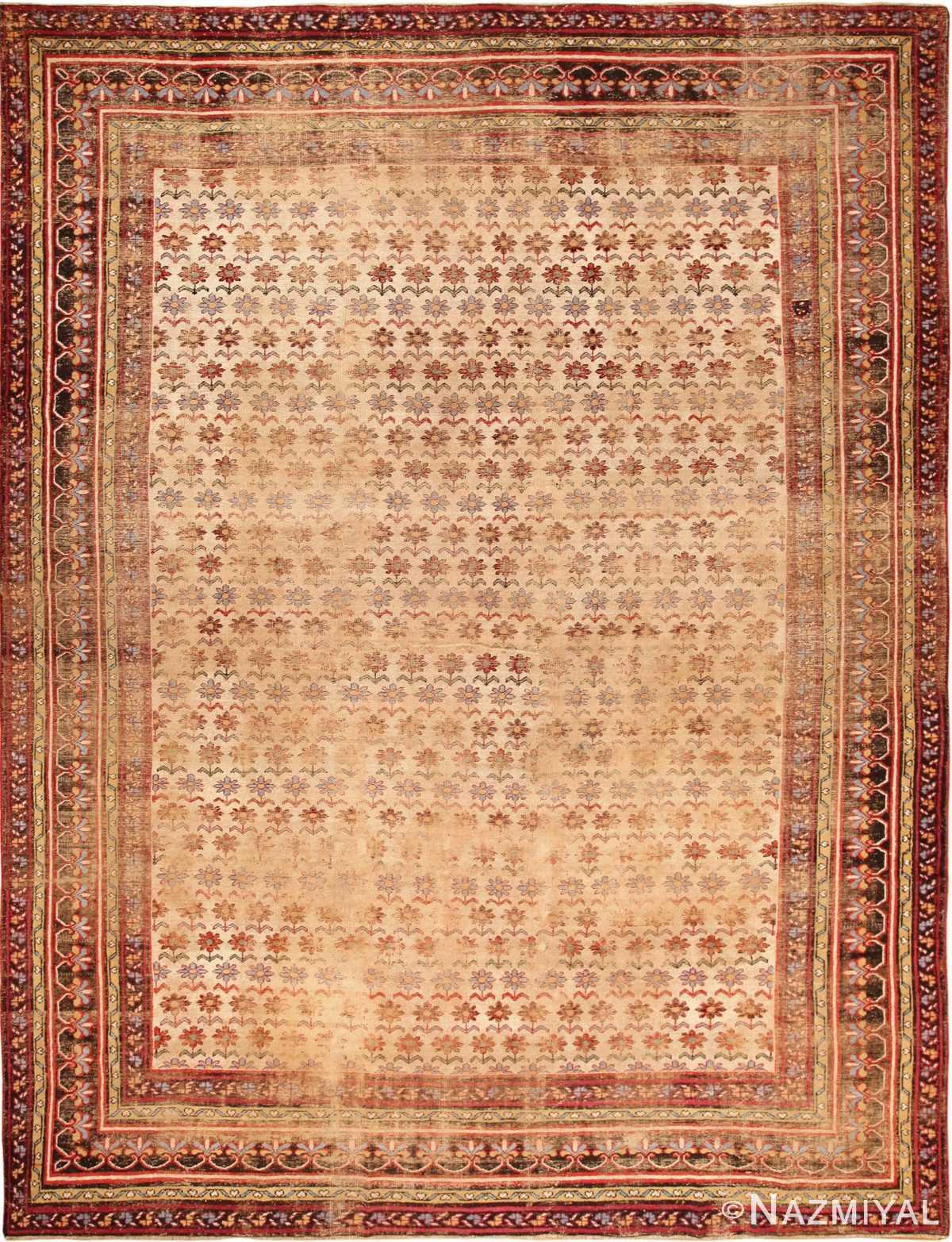 large shabby chic antique indian rug 49432 Nazmiyal