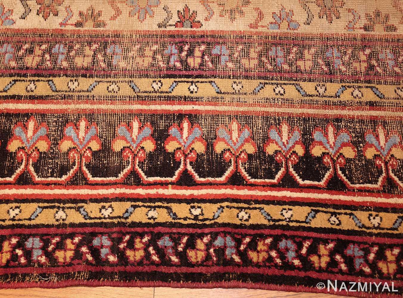 large shabby chic antique indian rug 49432 border Nazmiyal