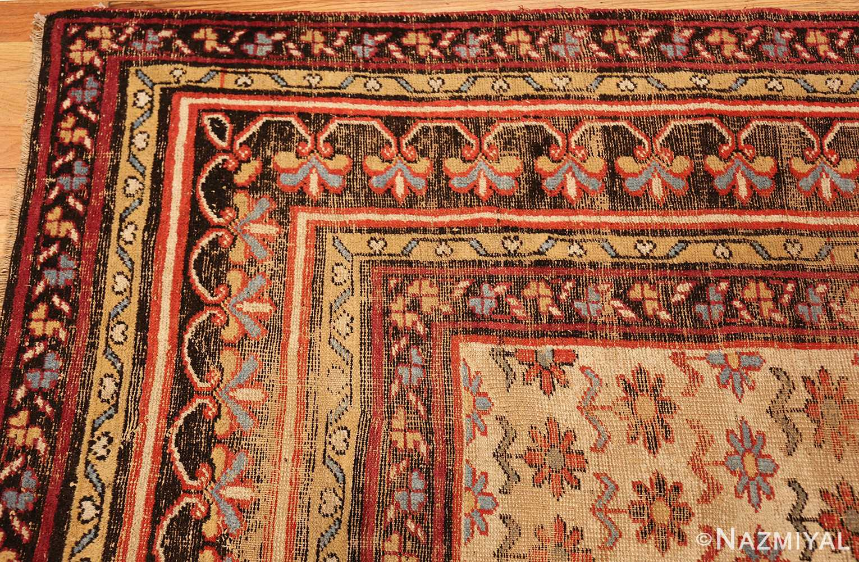 Large Shabby Chic Antique Indian Rug 49432 Corner Nazmiyal