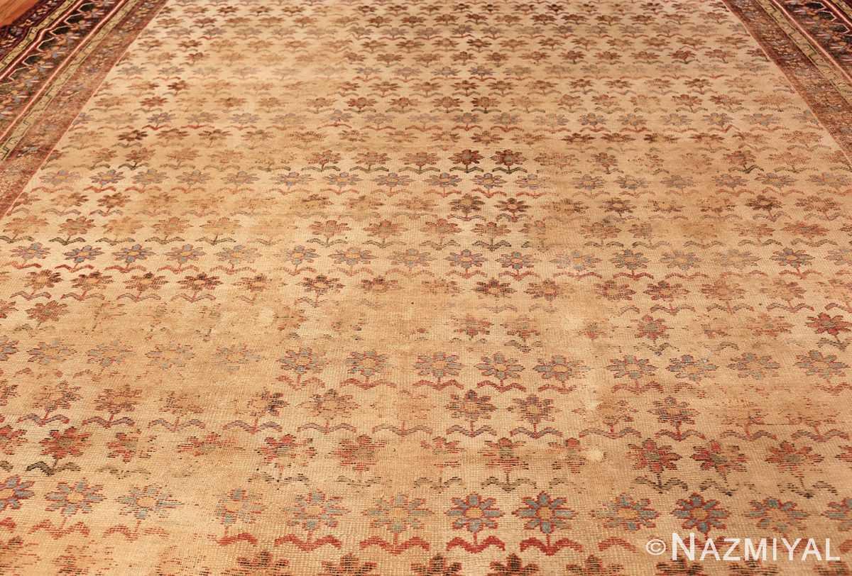 large shabby chic antique indian rug 49432 field Nazmiyal
