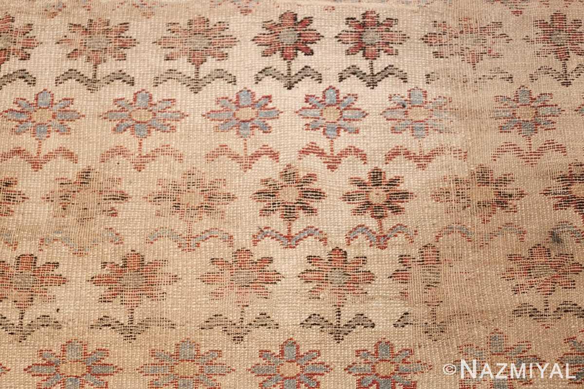large shabby chic antique indian rug 49432 flowers Nazmiyal