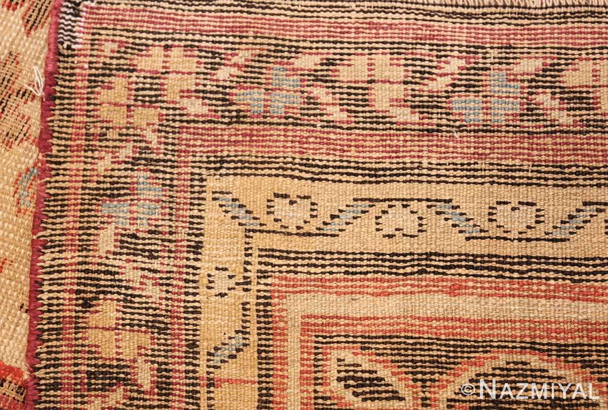 large shabby chic antique indian rug 49432 weave Nazmiyal