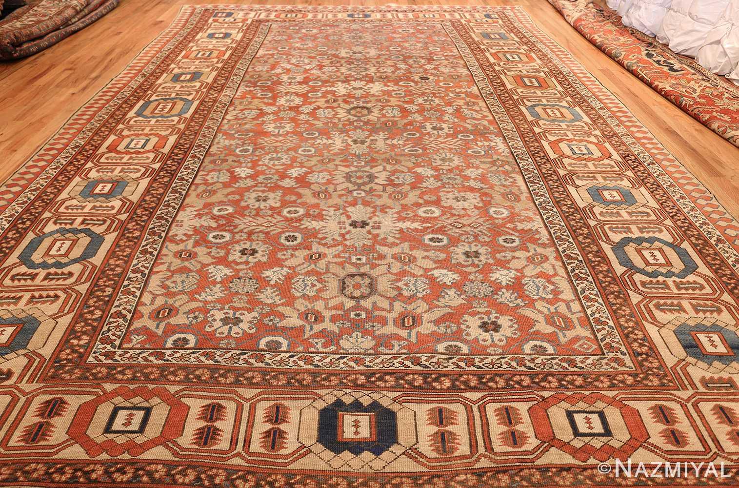 large size antique persian bakshaish rug 49394 weave Nazmiyal