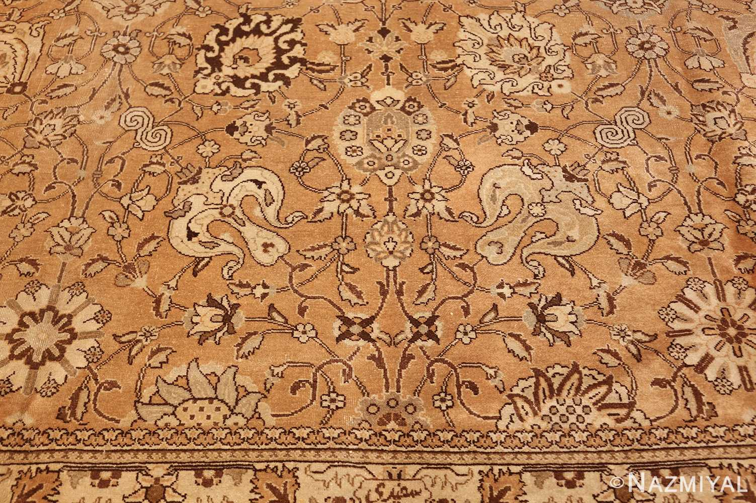 large vintage tabriz persian rug 43077 top Nazmiyal