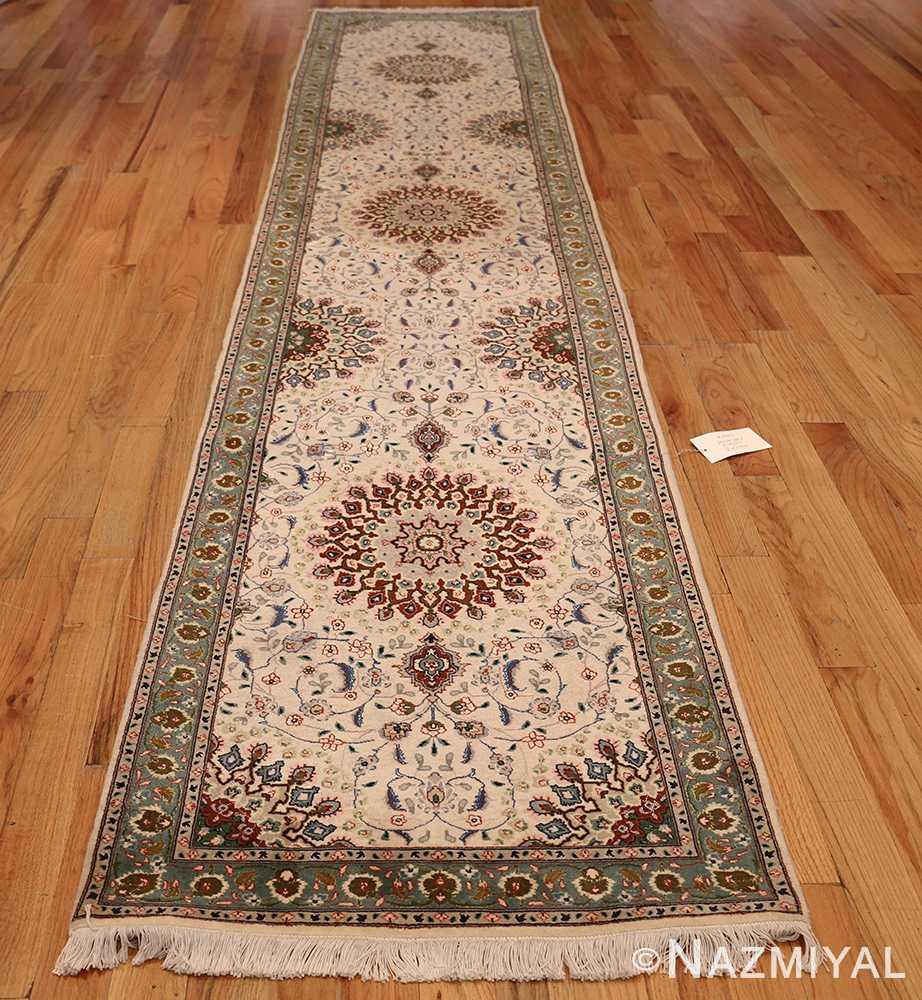 Wool And Silk Tabriz Persian Runner Rug 49402 Nazmiyal Rugs