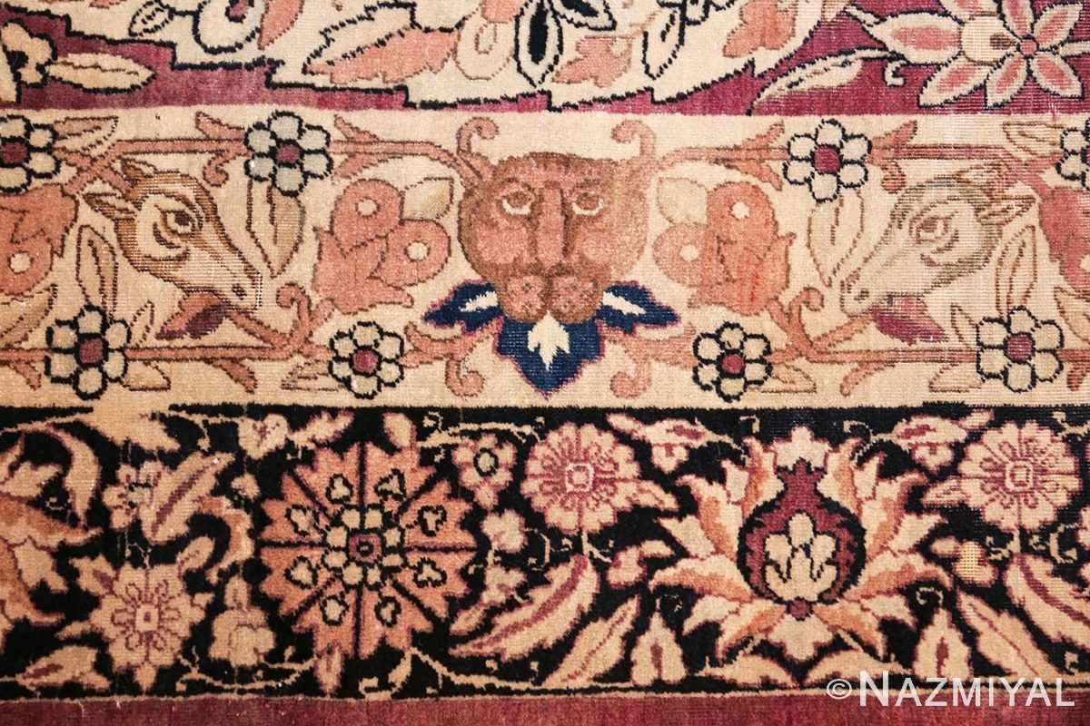 oversized antique hunting scene kerman persian rug 48796 head Nazmiyal