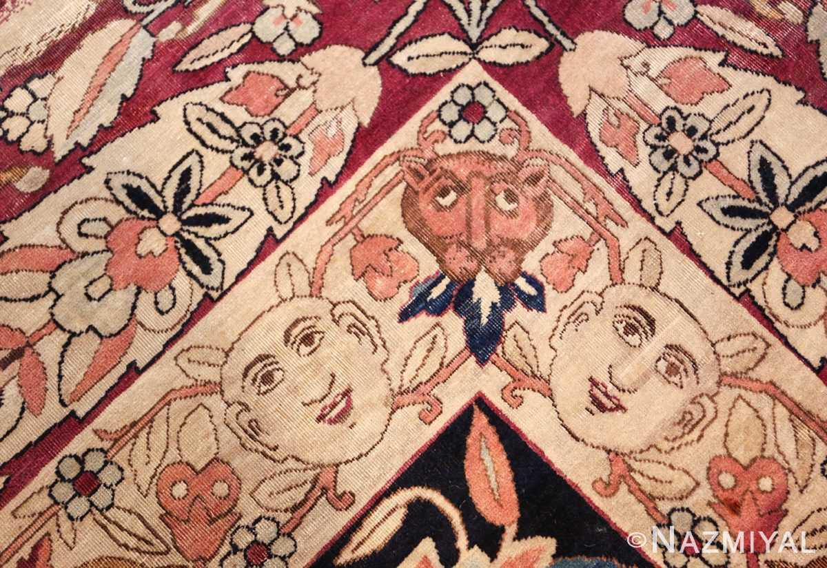 oversized antique hunting scene kerman persian rug 48796 inside Nazmiyal