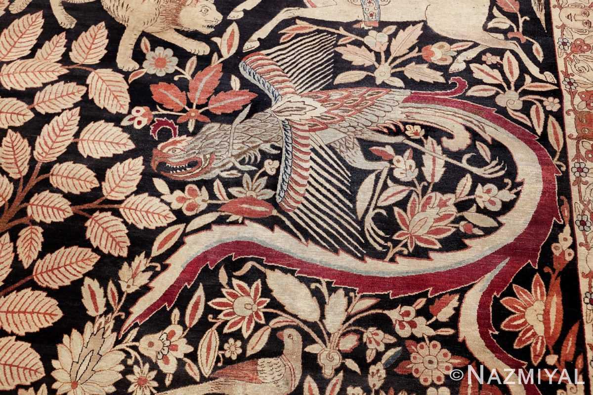 oversized antique hunting scene kerman persian rug 48796 phoenix Nazmiyal