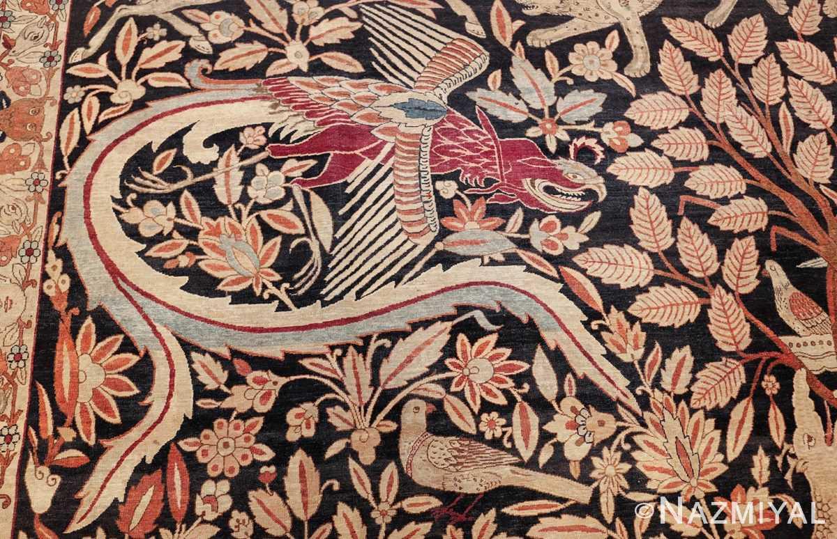 oversized antique hunting scene kerman persian rug 48796 red phoenix Nazmiyal