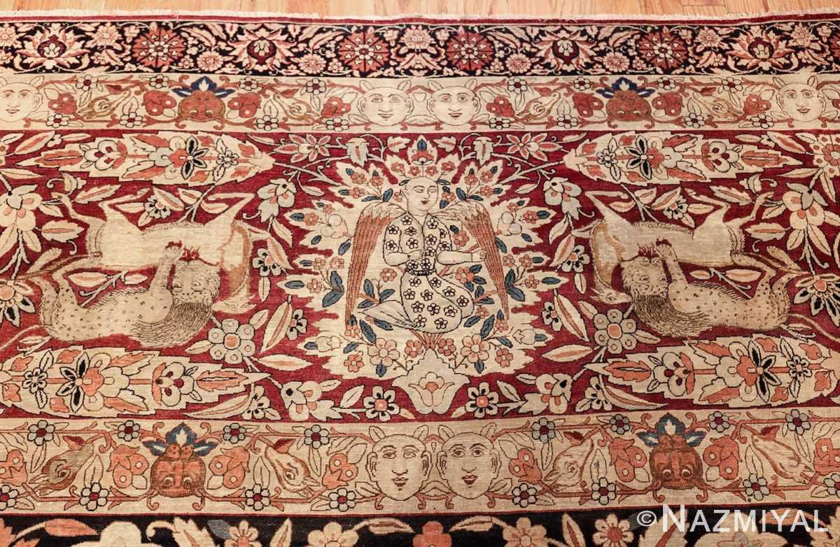 oversized antique hunting scene kerman persian rug 48796 top Nazmiyal