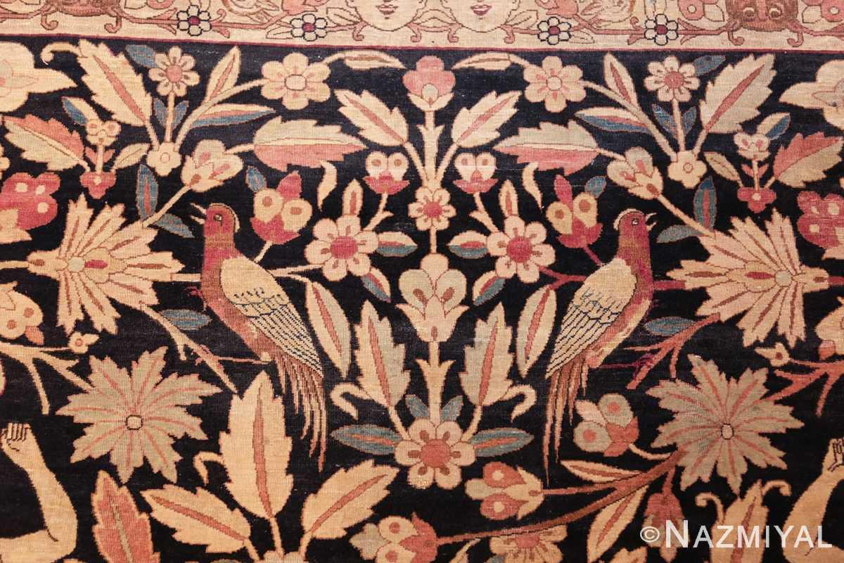 oversized antique hunting scene kerman persian rug 48796 twin Nazmiyal