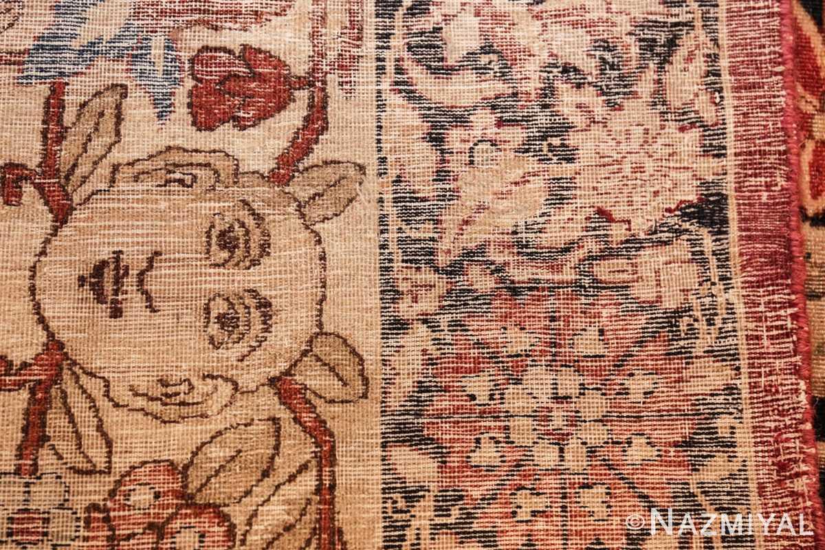 oversized antique hunting scene kerman persian rug 48796 weave Nazmiyal