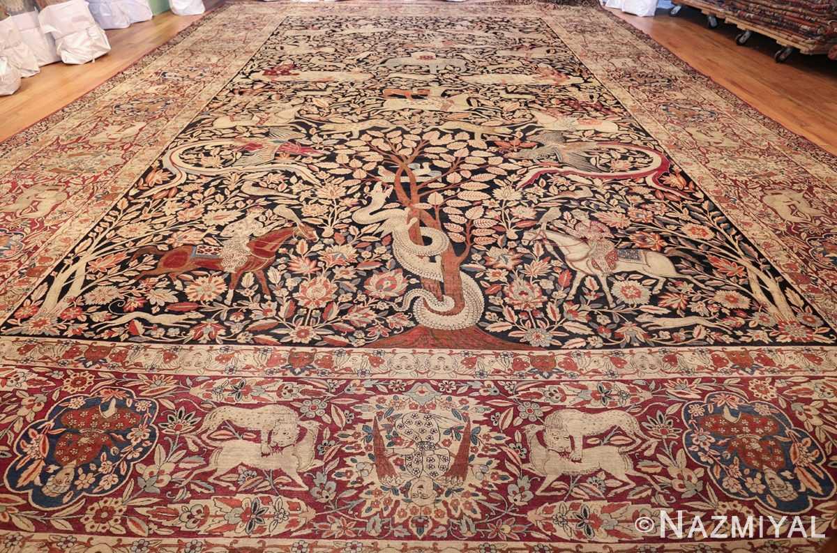 oversized antique hunting scene kerman persian rug 48796 whole Nazmiyal