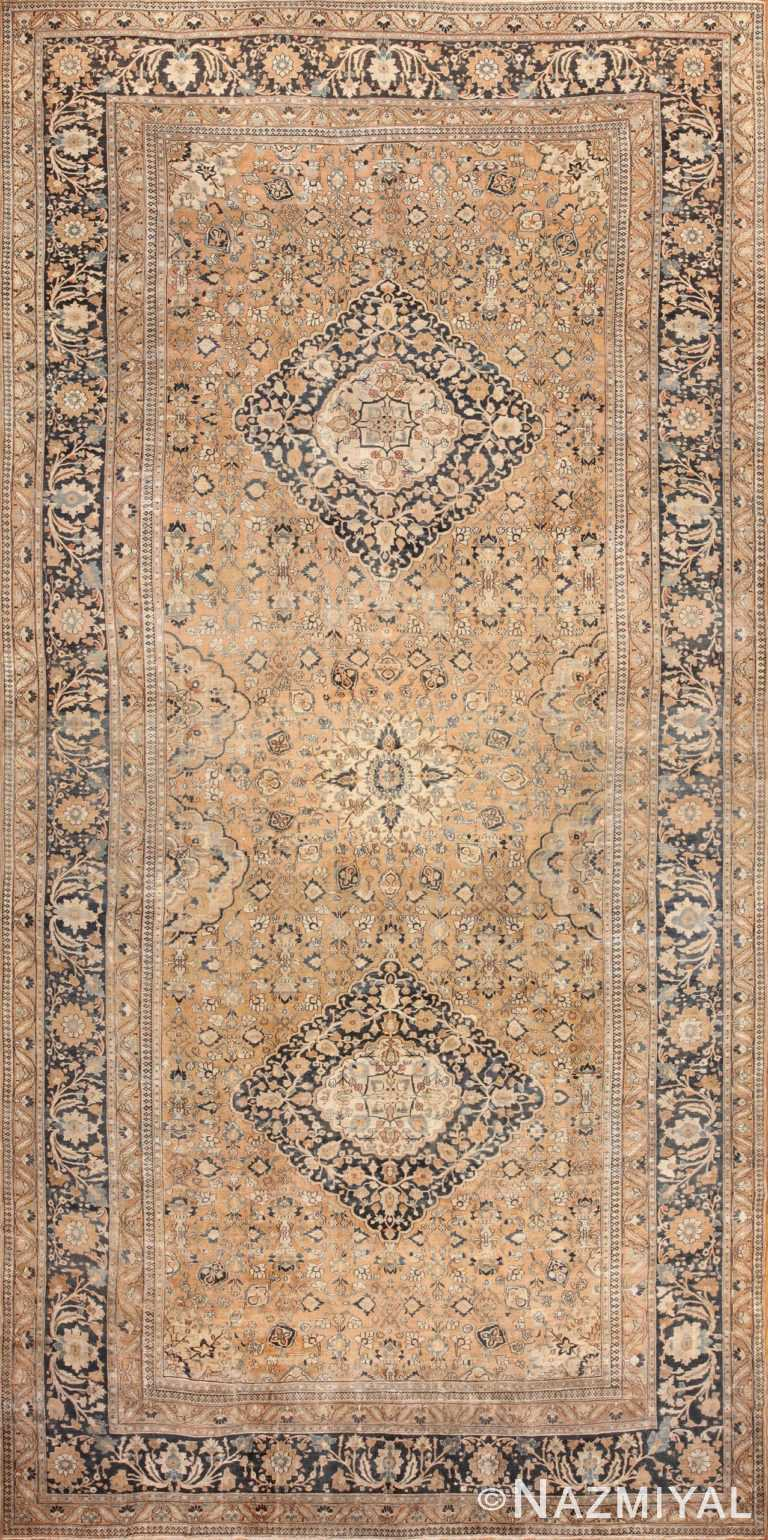 oversized antique khorassan persian rug 50664 Nazmiyal