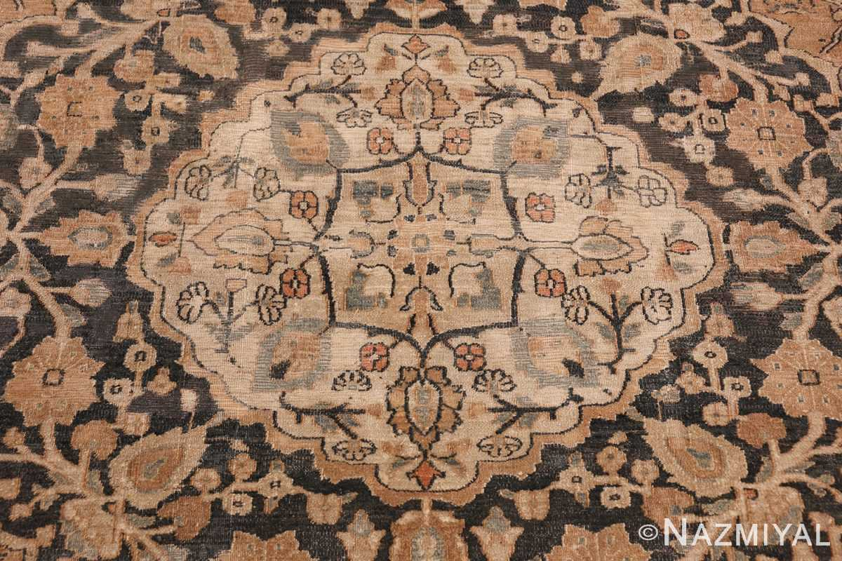 oversized antique khorassan persian rug 50664 white Nazmiyal