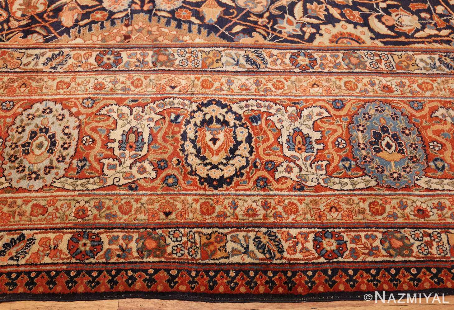 oversized navy background tabriz persian rug 49375 border Nazmiyal