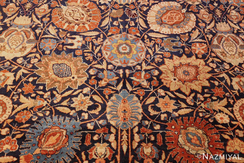 oversized navy background tabriz persian rug 49375 bouquet Nazmiyal