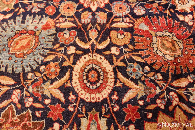 oversized navy background tabriz persian rug 49375 closeup Nazmiyal