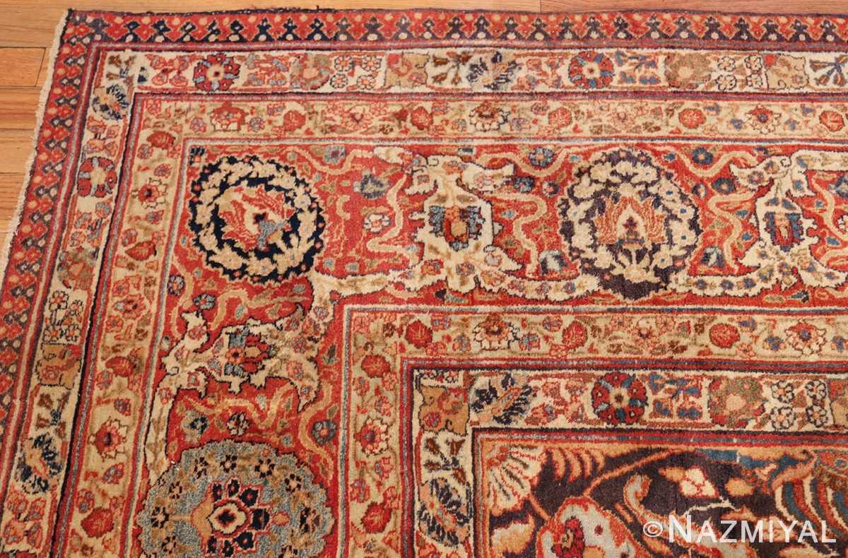 oversized navy background tabriz persian rug 49375 corner Nazmiyal