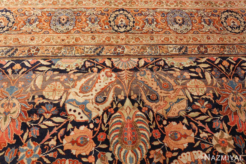 oversized navy background tabriz persian rug 49375 design Nazmiyal