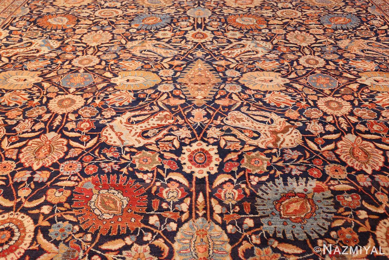 oversized navy background tabriz persian rug 49375 field Nazmiyal
