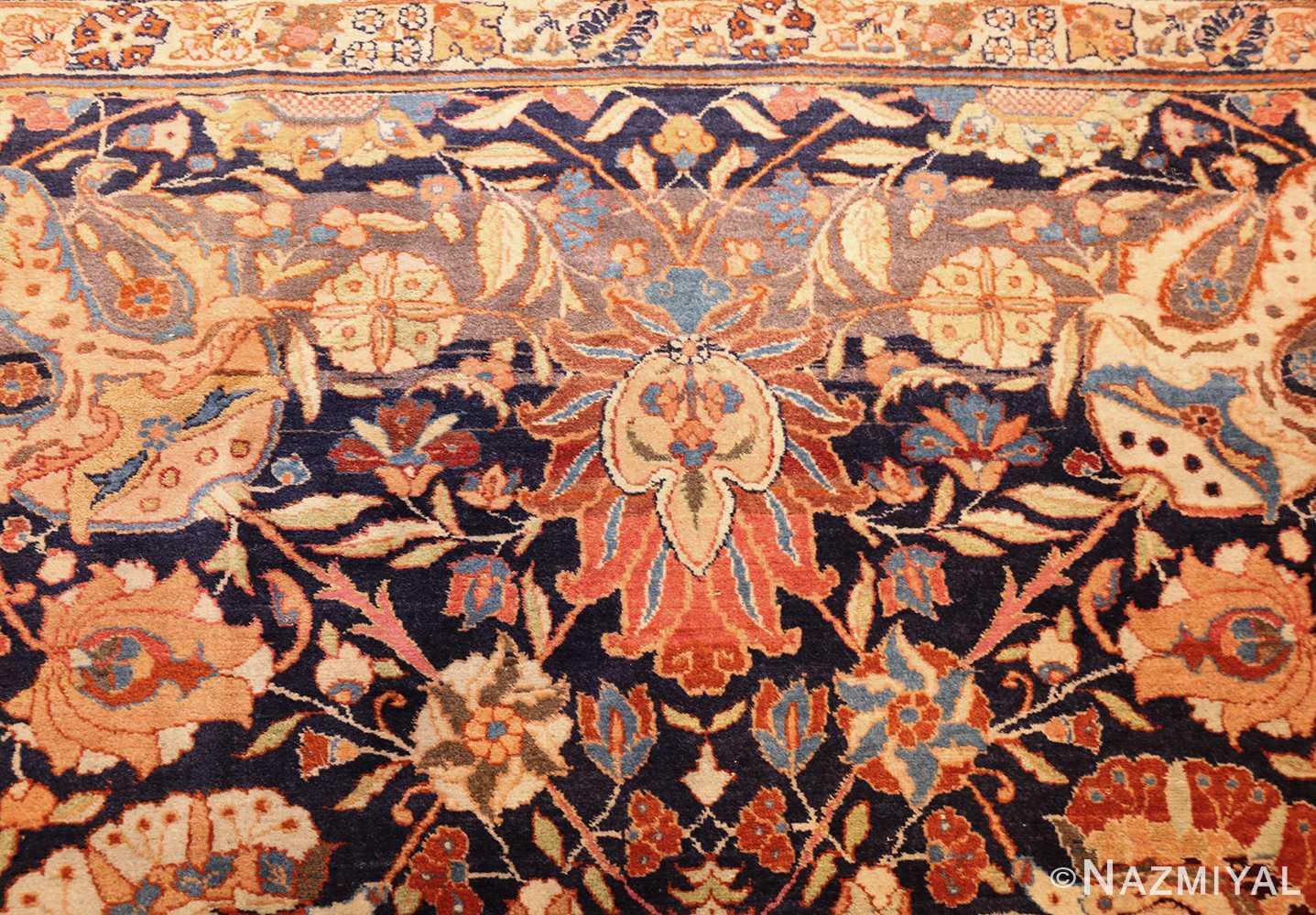 oversized navy background tabriz persian rug 49375 red Nazmiyal