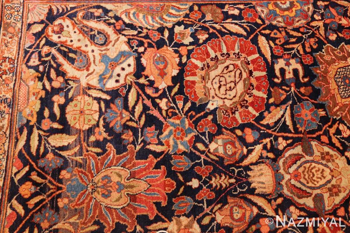 oversized navy background tabriz persian rug 49375 side Nazmiyal