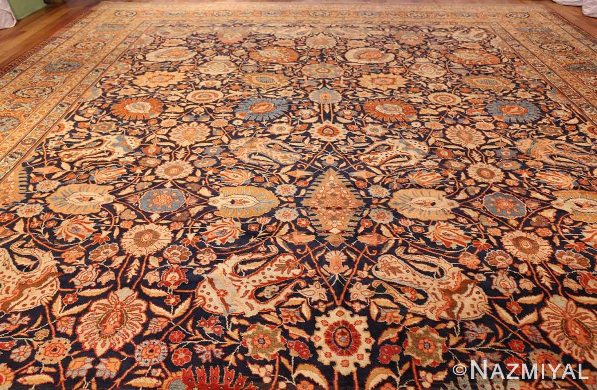 oversized navy background tabriz persian rug 49375 top Nazmiyal