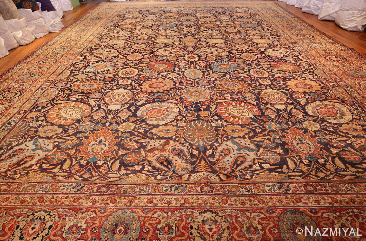 oversized navy background tabriz persian rug 49375 whole Nazmiyal