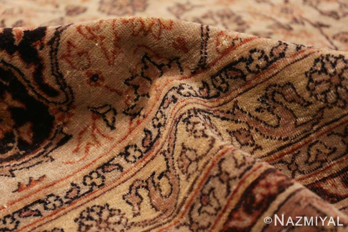 Pile Large floral Ivory and gray Antique Turkish Sivas rug 50416 by Nazmiyal
