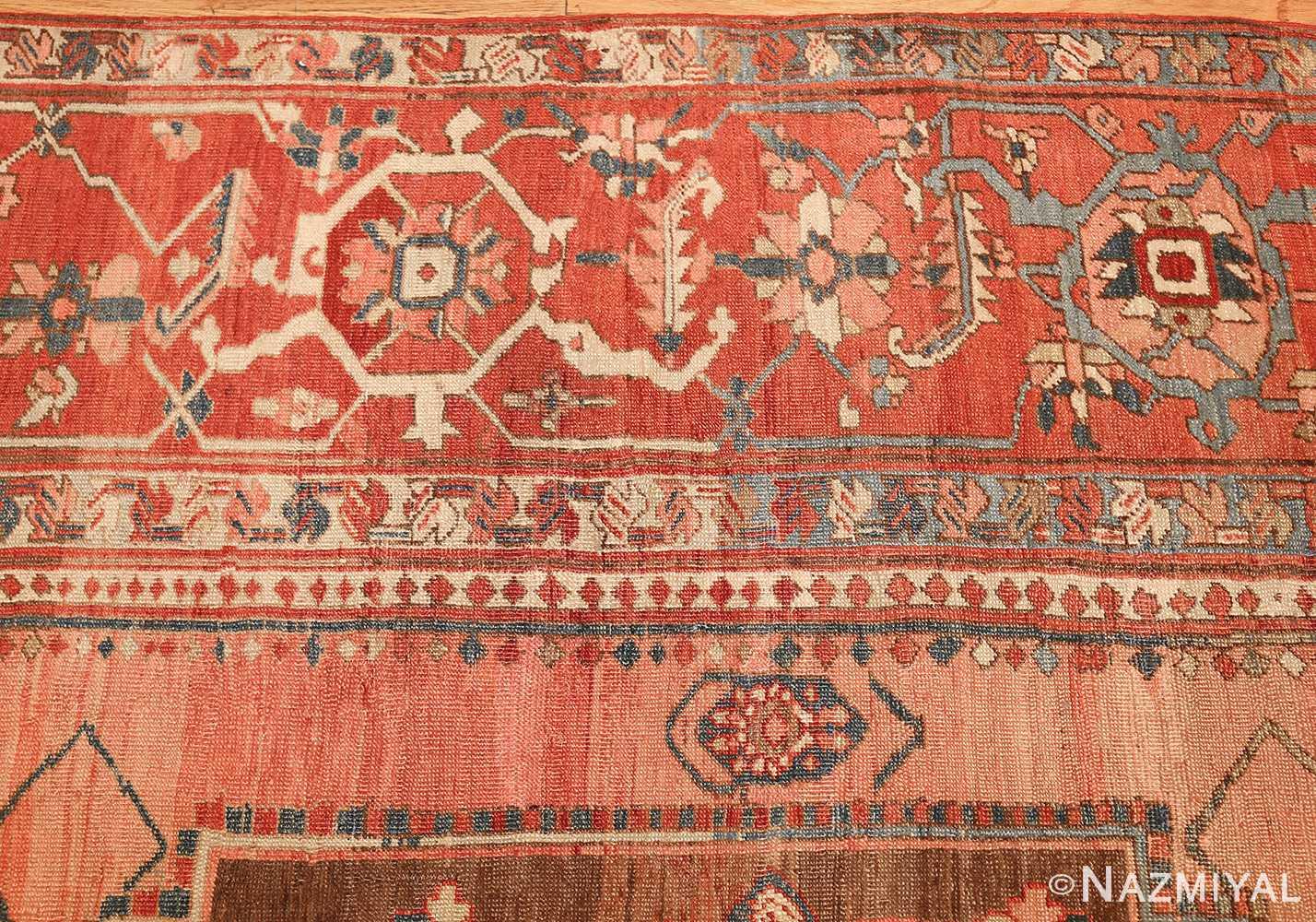 room size antique oriental persian serapi rug 49391 border Nazmiyal