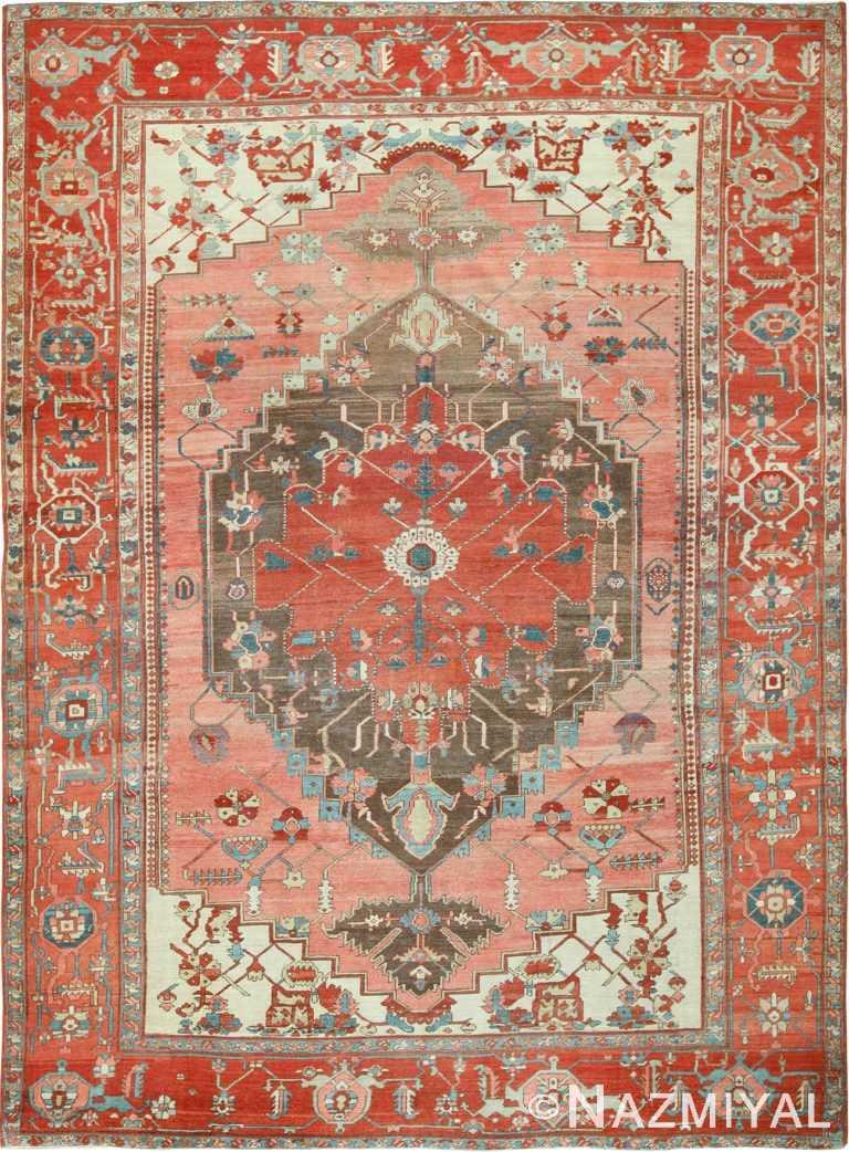room size antique serapi persian rug 49391 Nazmiyal
