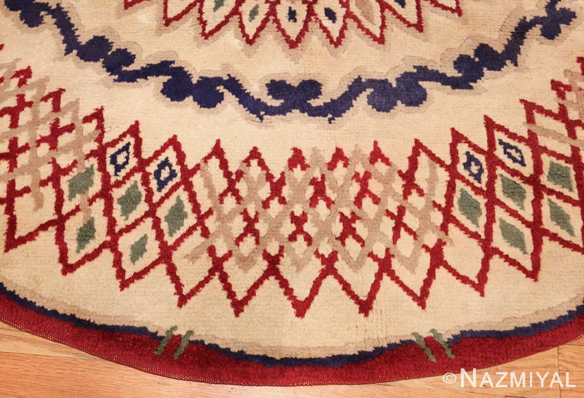 round antique art deco french rug by leleu 49382 border Nazmiyal