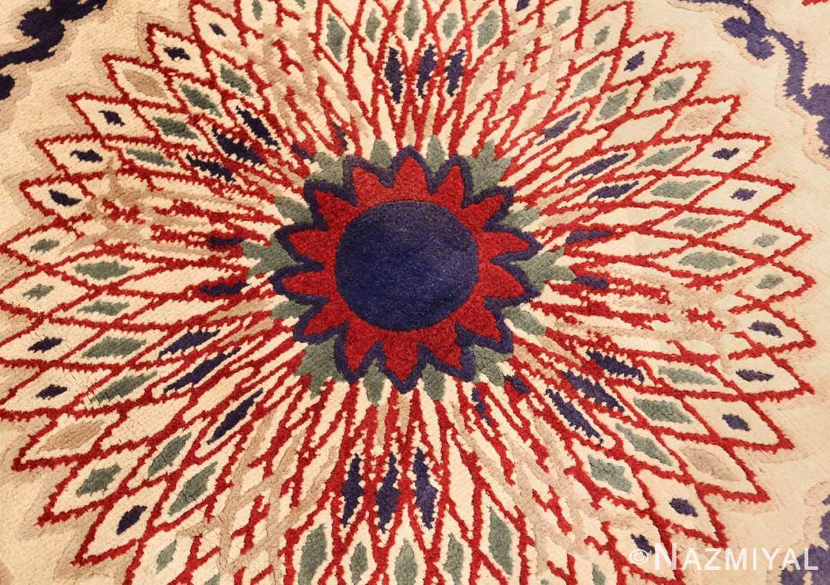 round antique art deco french rug by leleu 49382 center Nazmiyal