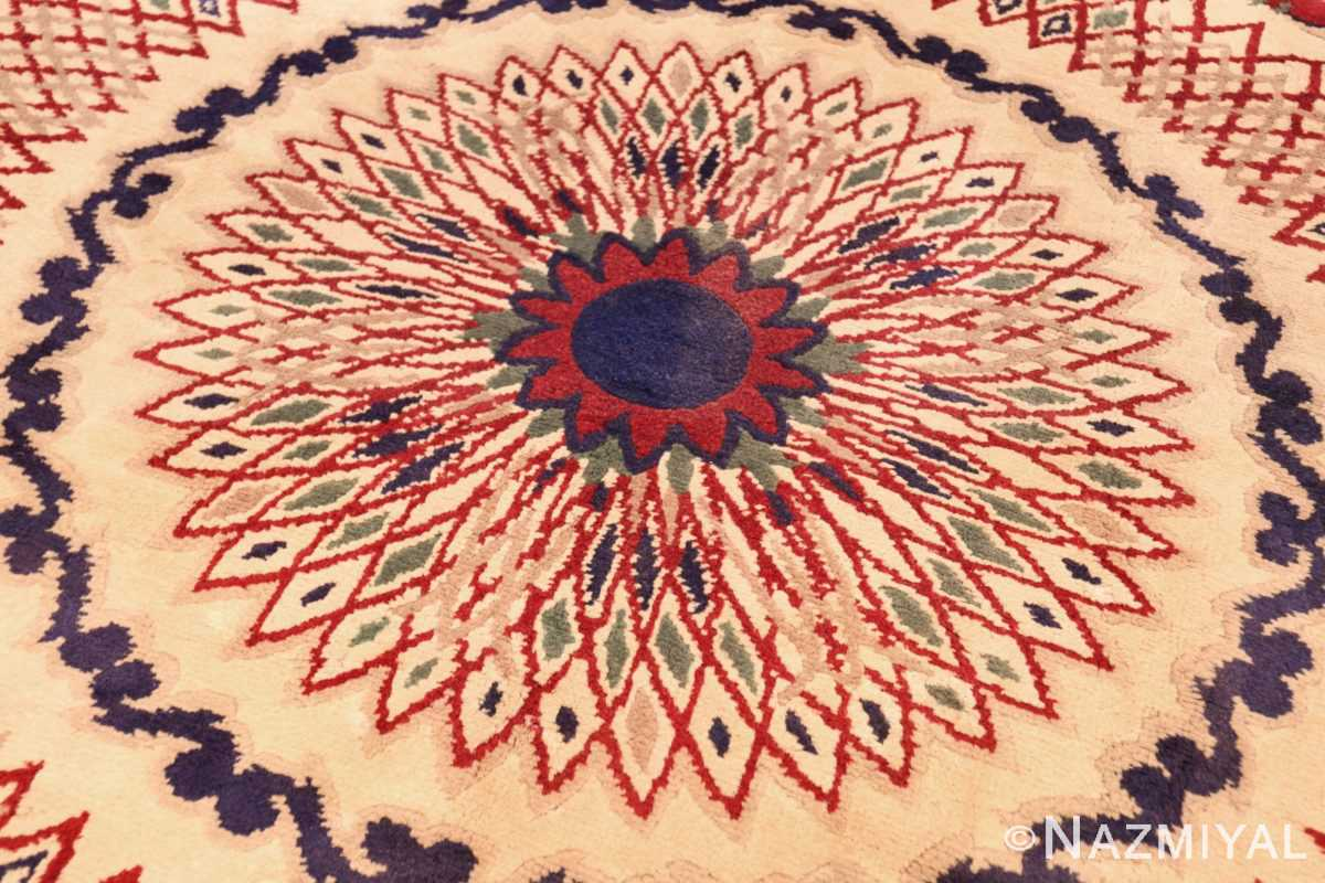round antique art deco french rug by leleu 49382 medallion Nazmiyal