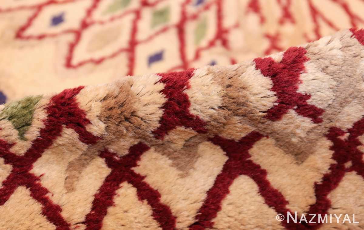 round antique art deco french rug by leleu 49382 pile Nazmiyal