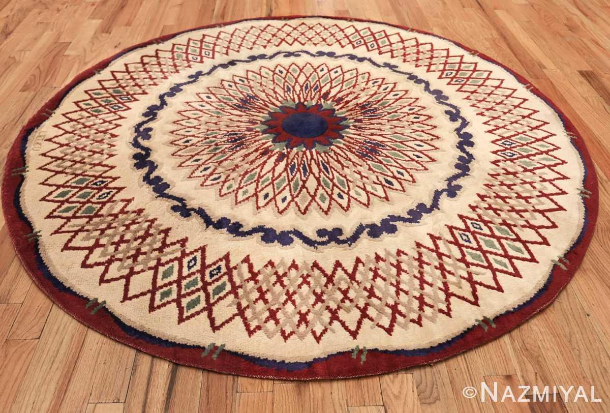 round antique art deco french rug by leleu 49382 whole Nazmiyal