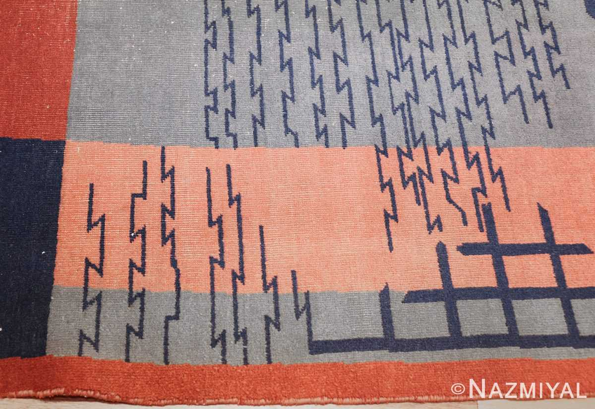 shabby chic antique art deco indian rug 49386 border Nazmiyal