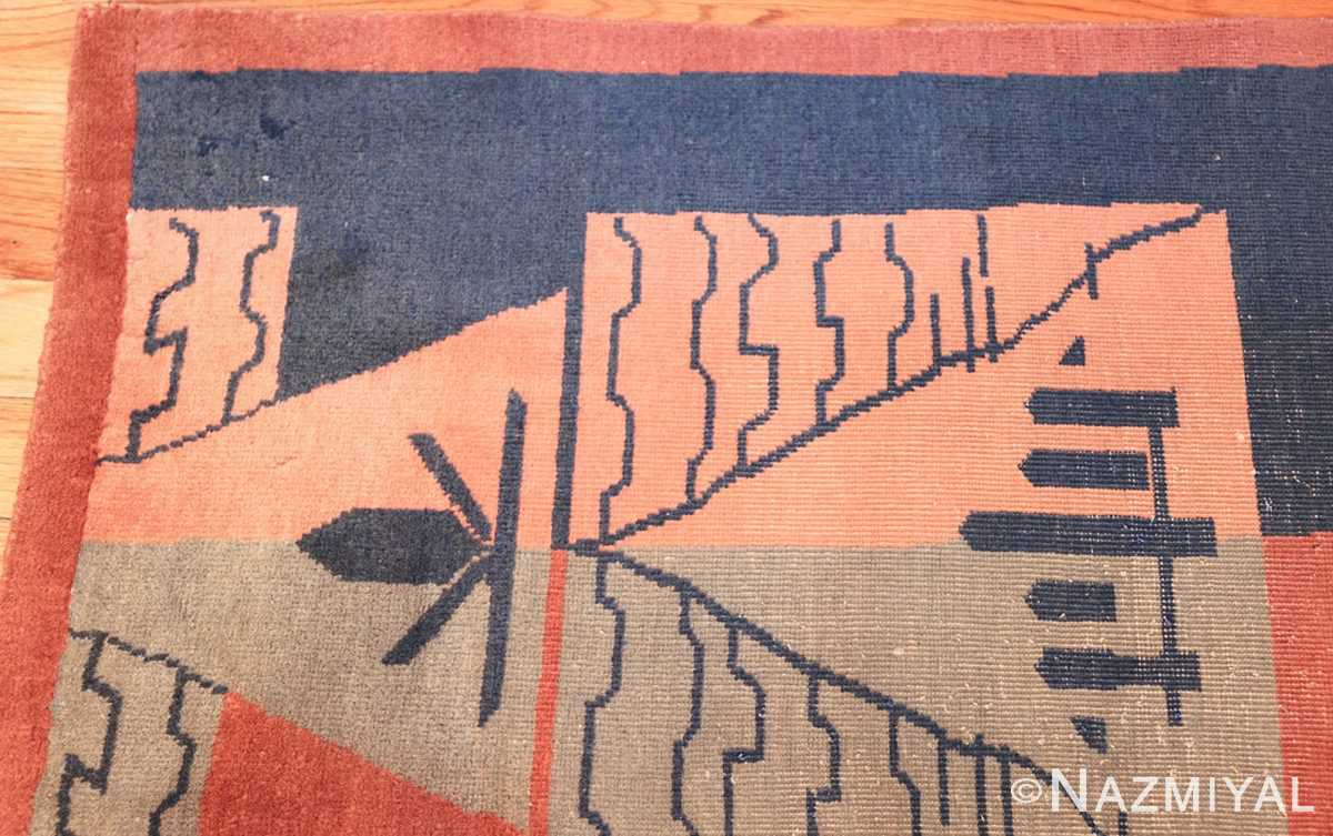 shabby chic antique art deco indian rug 49386 corner Nazmiyal
