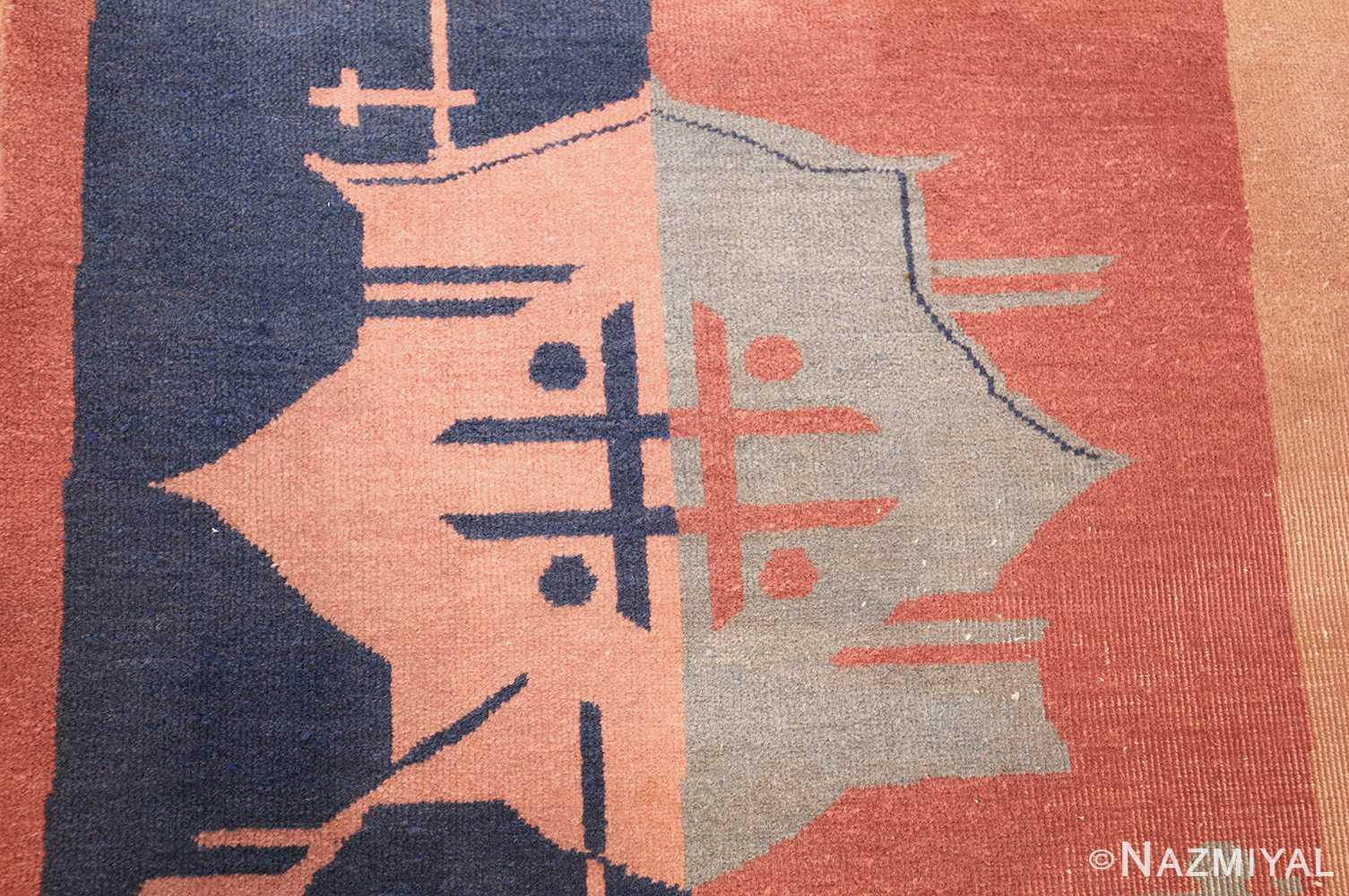 shabby chic antique art deco indian rug 49386 design Nazmiyal