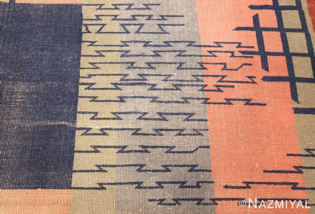 shabby chic antique art deco indian rug 49386 lines Nazmiyal