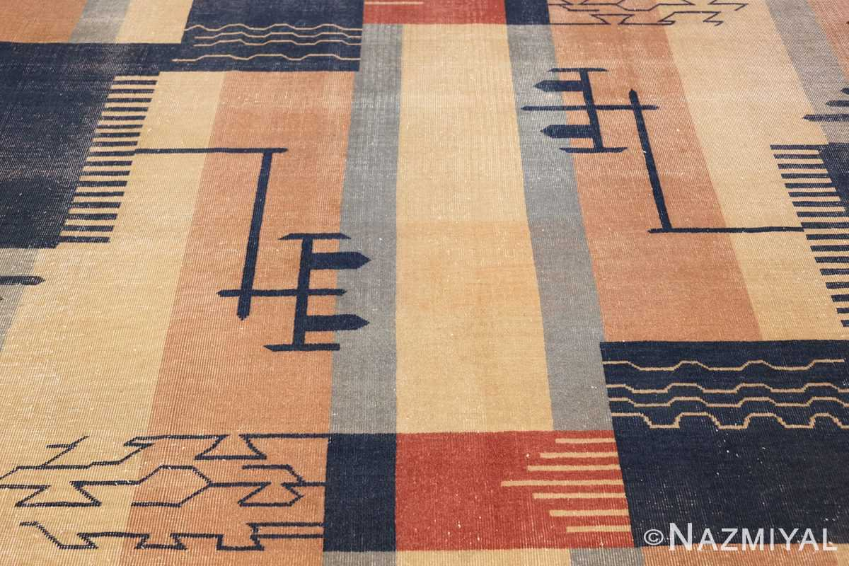 shabby chic antique art deco indian rug 49386 middle Nazmiyal
