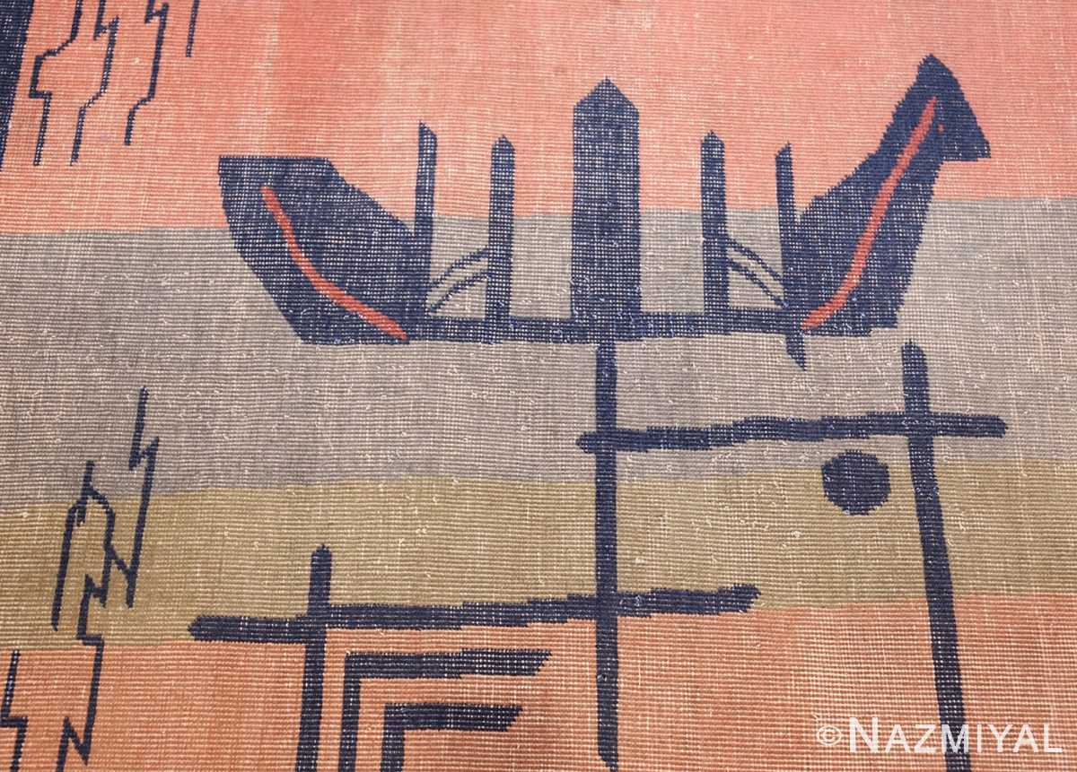 shabby chic antique art deco indian rug 49386 pattern Nazmiyal
