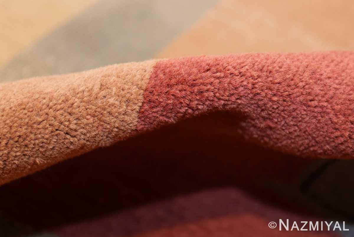 shabby chic antique art deco indian rug 49386 pile Nazmiyal