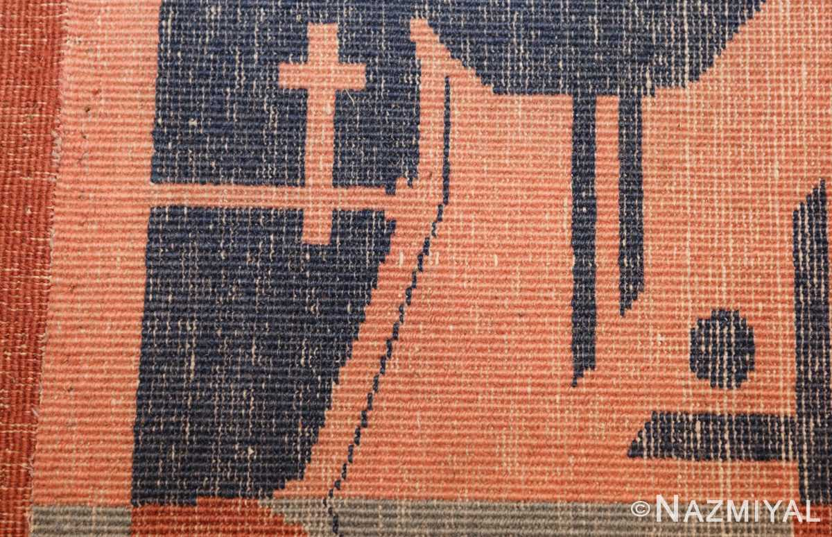 shabby chic antique art deco indian rug 49386 weave Nazmiyal